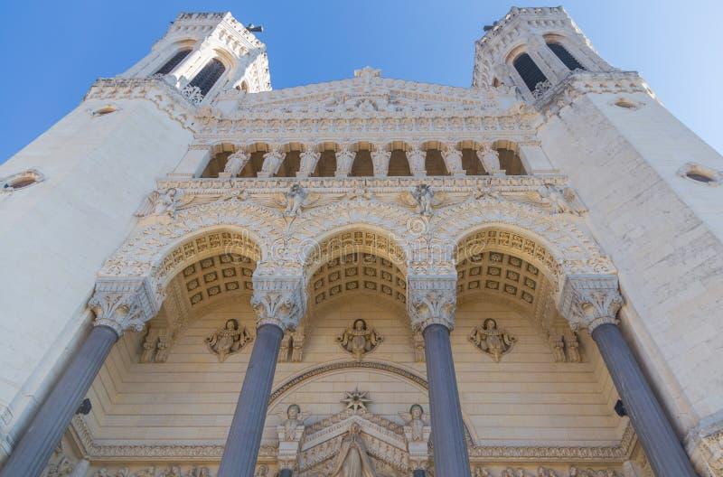 Часть базилики Нотр-Дам в Лионе Франции стоковые фотографии rf