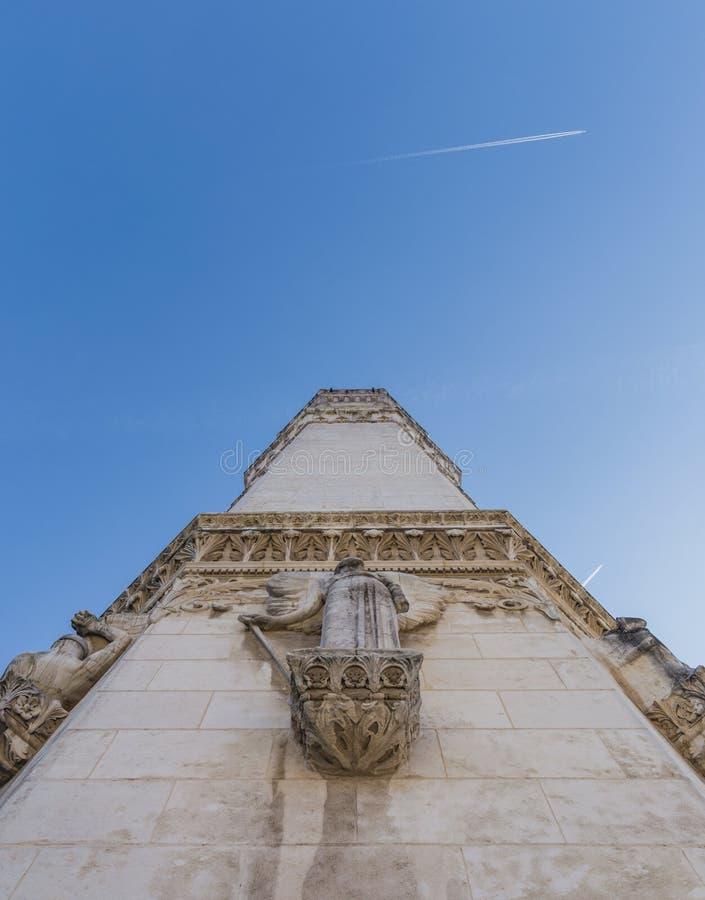 Часть базилики Нотр-Дам в Лионе стоковое фото