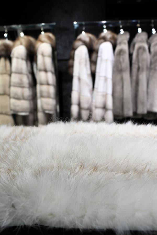 Часть белого меха стоковая фотография rf