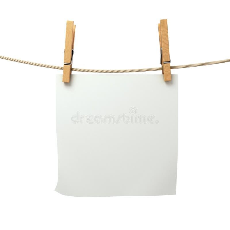Часть белой бумаги приложенная к стоковое изображение rf