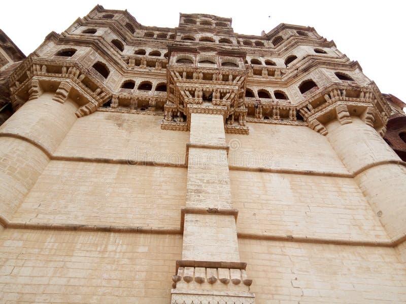 Часть величественного форта расположенного в Джодхпуре, Раджастхана Mehrangarh стоковые изображения rf