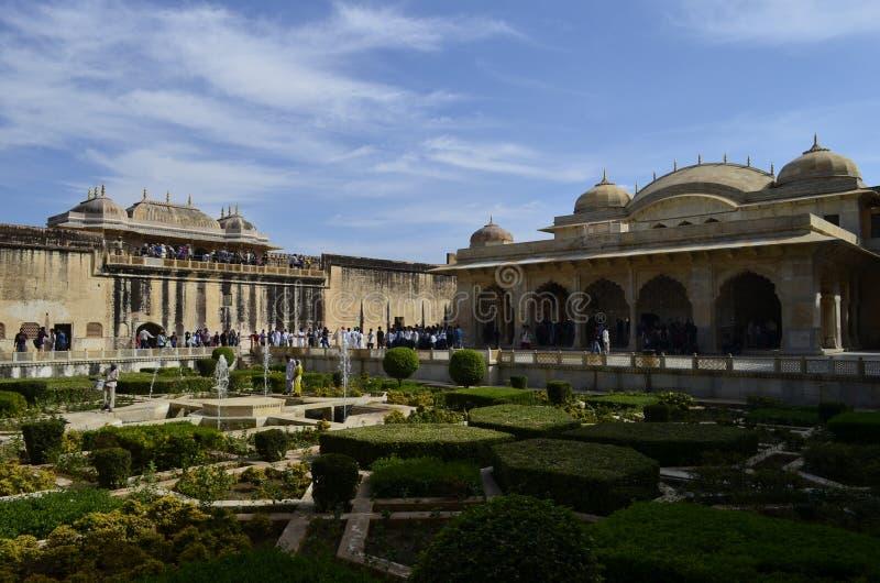 Часть величественного форта Amer в Джайпуре Раджастхане Индии стоковое изображение
