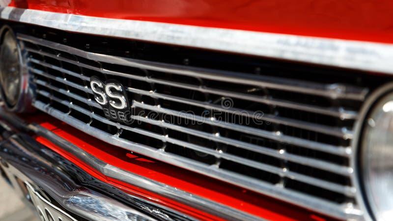 Часть винтажного ретро автомобиля Шевроле Chevelle Malibu стоковые изображения rf