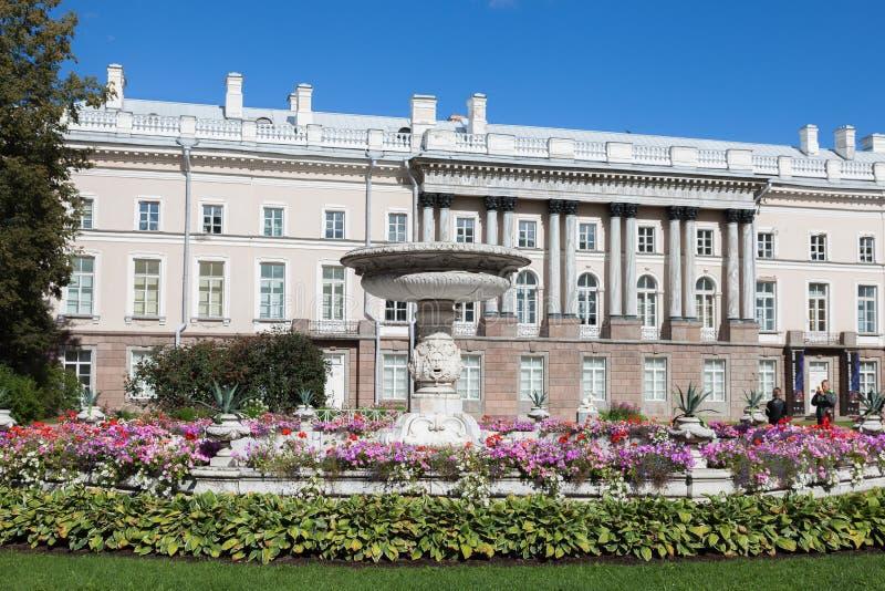 Часть дворца Катрина - крыло Zubov в Tsarskoye Selo, St стоковые фотографии rf