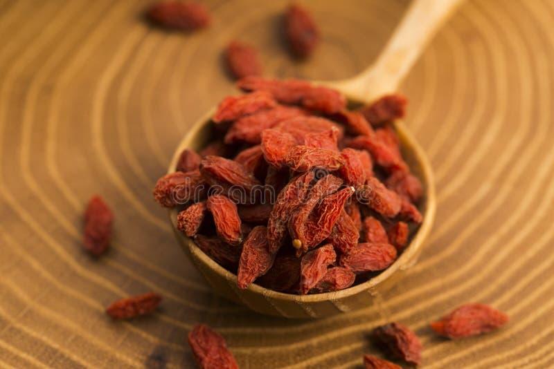 Часть высушенных ягод Goji стоковое фото rf