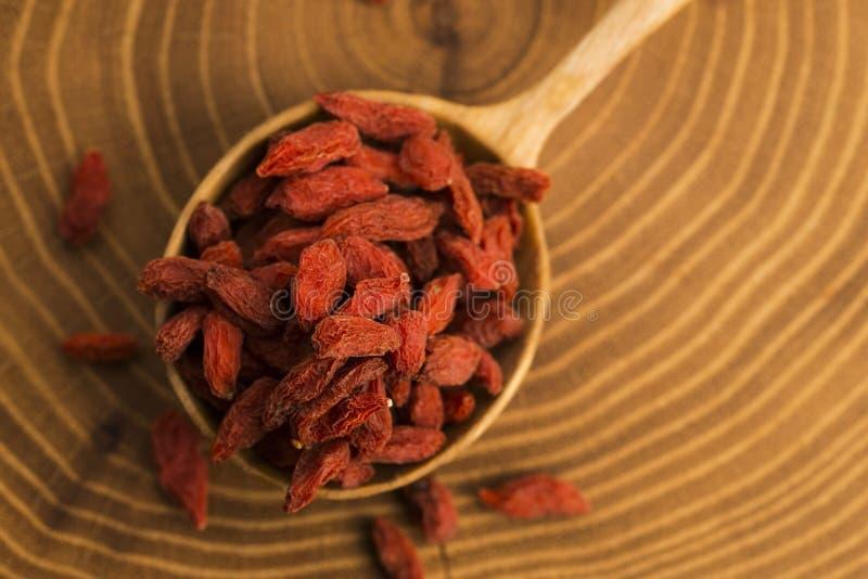 Часть высушенных ягод Goji стоковое фото