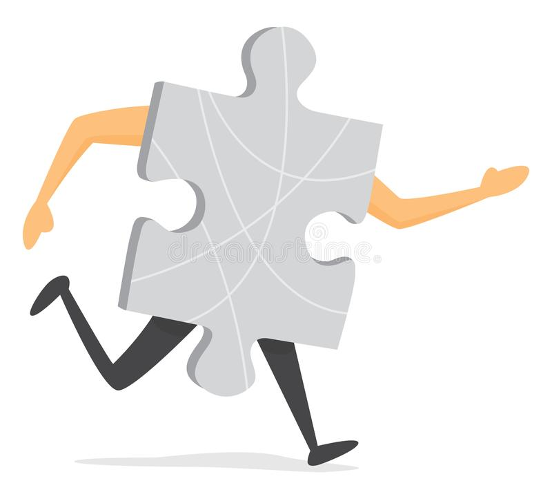Часть головоломки бежать быстро или jogging стоковая фотография