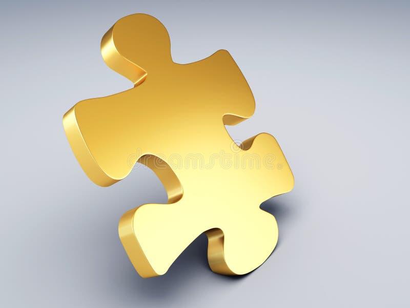 Часть головоломки золота иллюстрация штока
