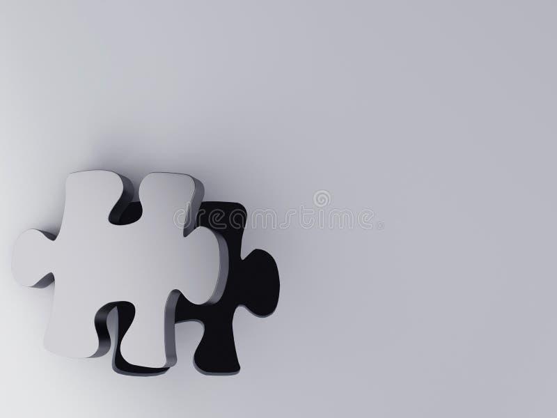 Часть головоломки иллюстрация штока