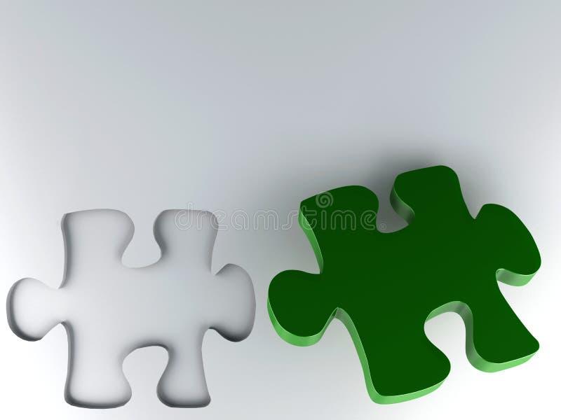 Часть головоломки иллюстрация вектора