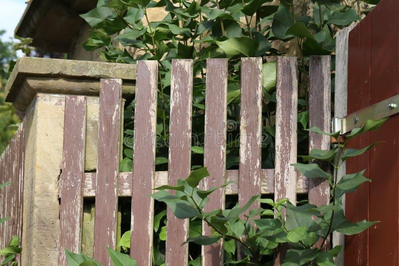Часть деревянной загородки стоковые фото