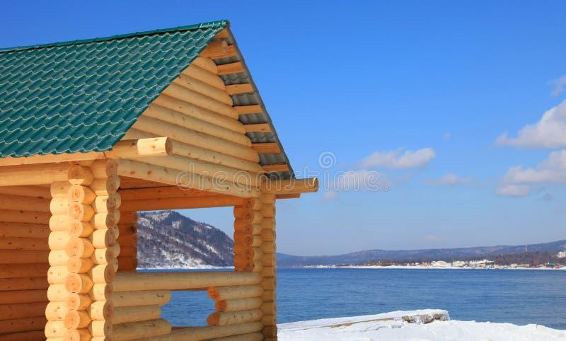 часть дома деревянная стоковое фото rf