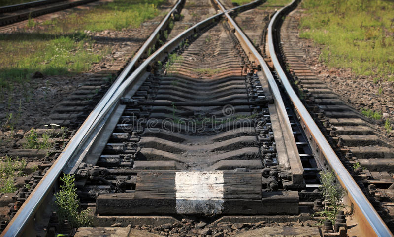 Часть железнодорожного пути стоковые изображения