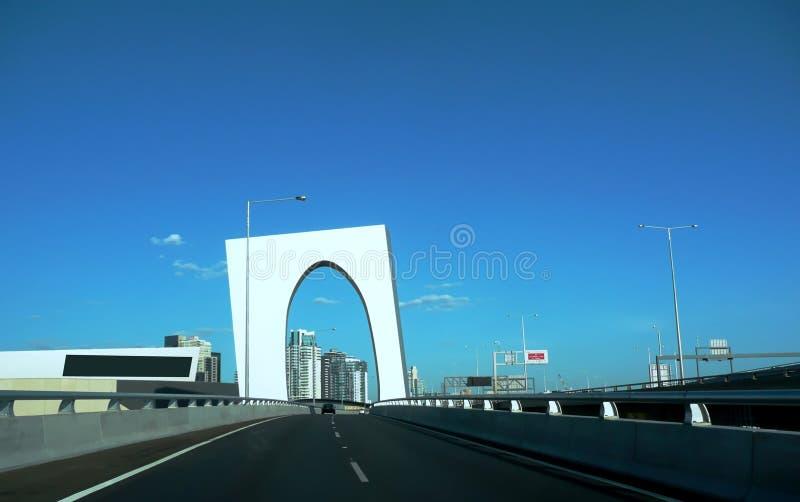Часть западного моста Мельбурна Австралии строба стоковые изображения