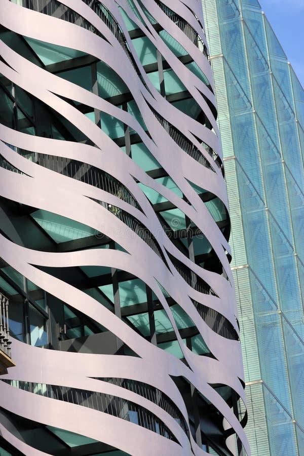 часть здания самомоднейшая стоковая фотография rf