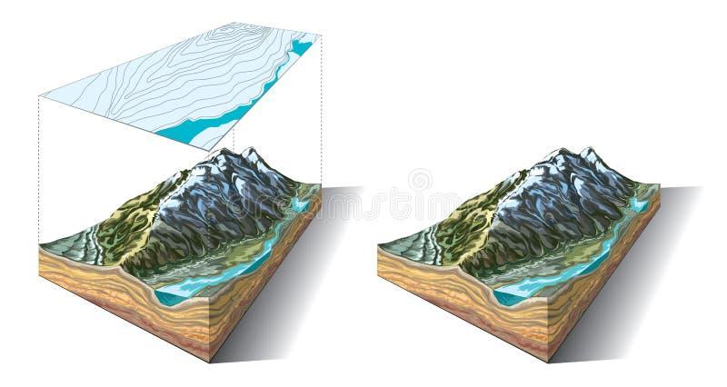 Часть земли иллюстрация вектора