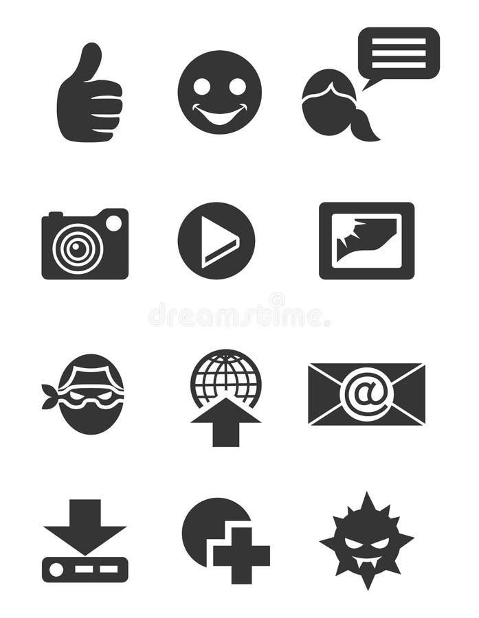Часть 2 значка интернета установленная бесплатная иллюстрация