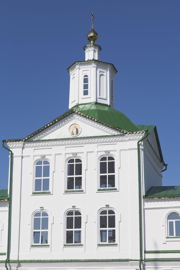 Часть здания церков St Nicholas в Kotlas стоковое фото rf