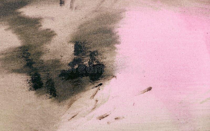 Часть картины Масло на текстуре холста абстрактная предпосылка brushstrokes стоковые фото