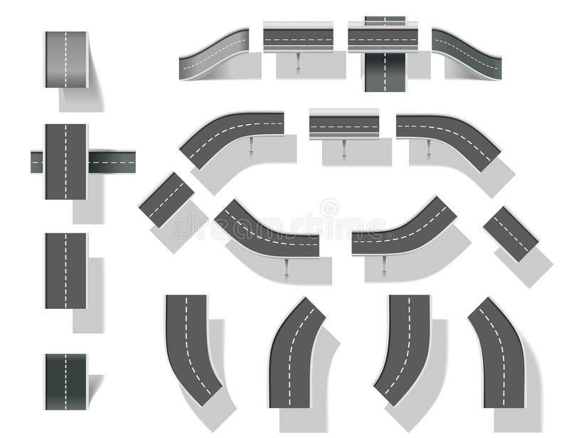 часть карты набора творения 4 мостов diy ity иллюстрация штока