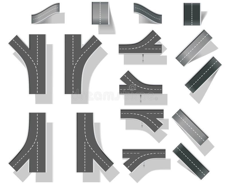 часть карты набора творения 5 мостов diy ity иллюстрация штока