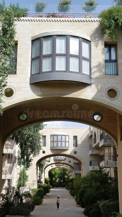 Часть квартала Kfar-Дэвид элиты жилого, Иерусалима, Израиля стоковое фото rf