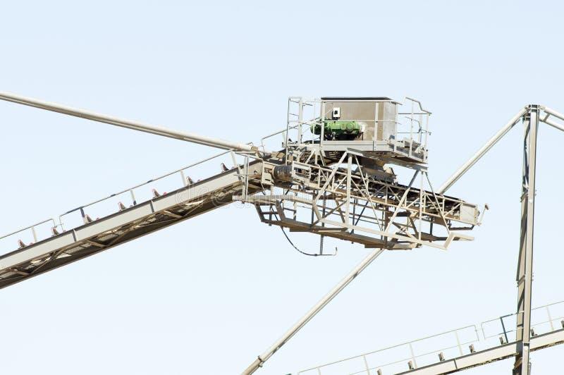 Часть конвейерного ремня установки для извлечения песка стоковое фото rf