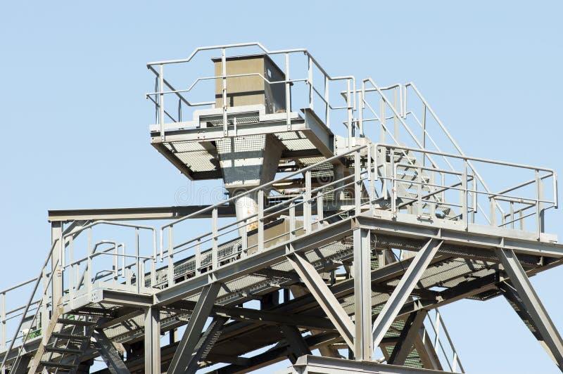 Часть конвейерного ремня установки для извлечения песка стоковое фото