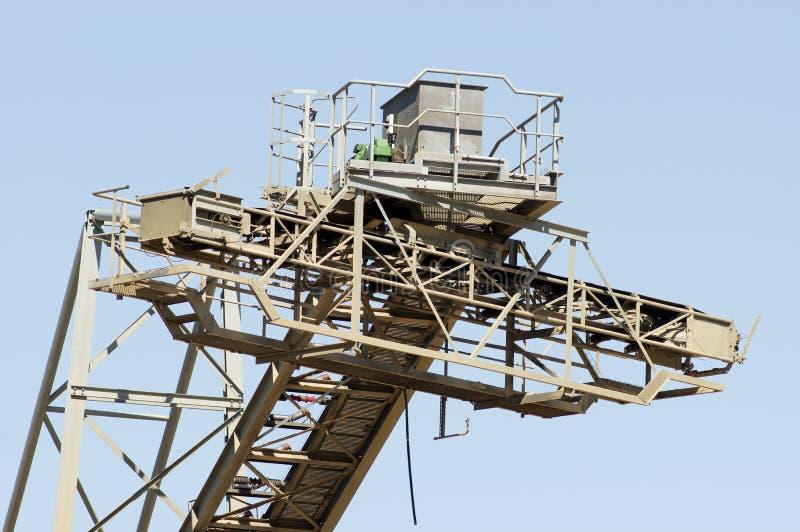 Часть конвейерного ремня установки для извлечения песка стоковые фото