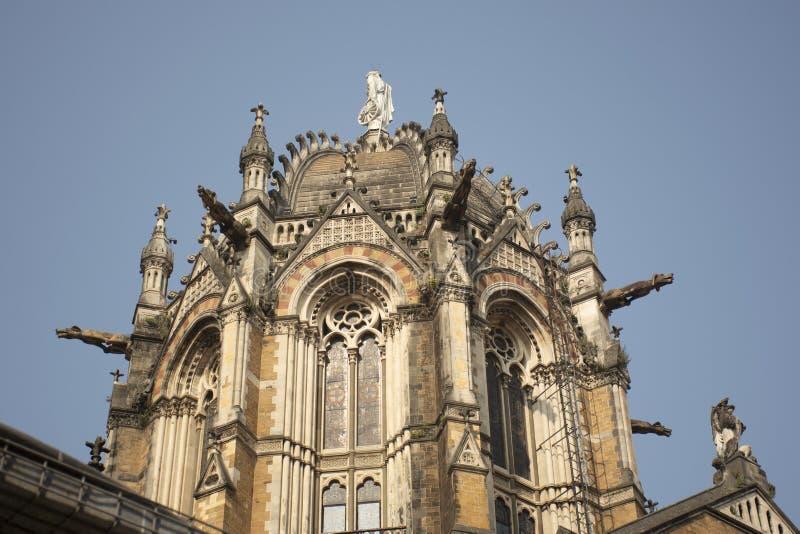 Часть конечной станции Chhatrapati Shivaji Maharaj стоковые фотографии rf