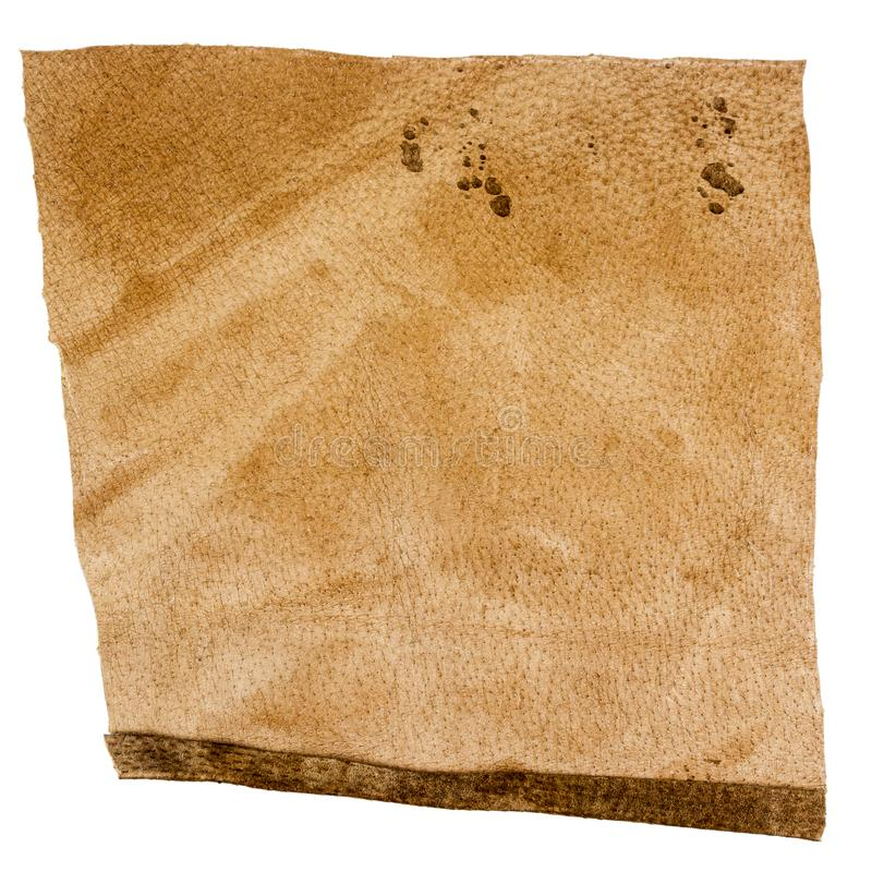 Часть коричневой кожи, неправильного места стоковое фото rf