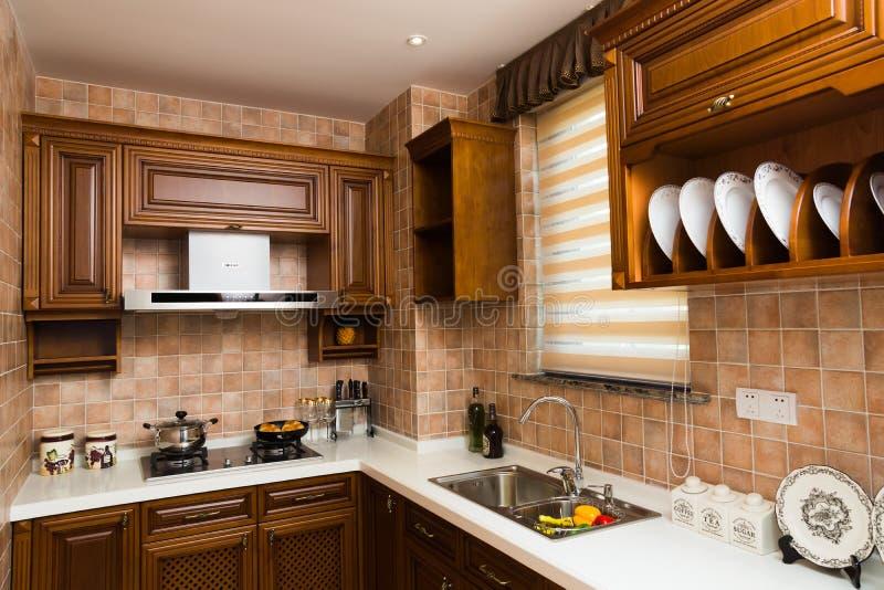 часть кухни стоковое изображение