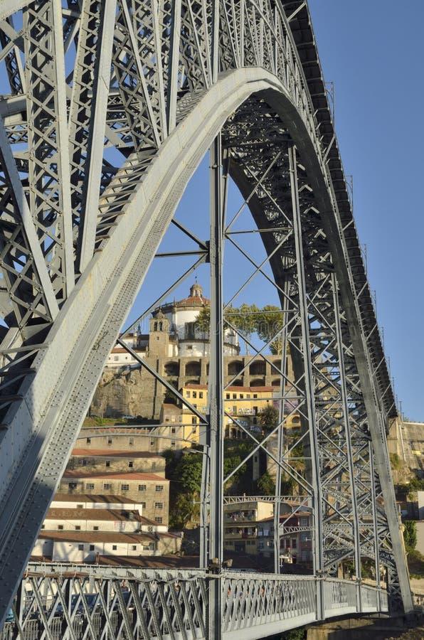 Часть моста Дон Луис стоковое изображение