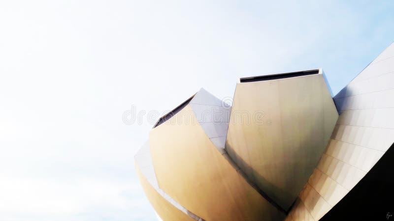 Часть музея Сингапура Artscience стоковые фотографии rf