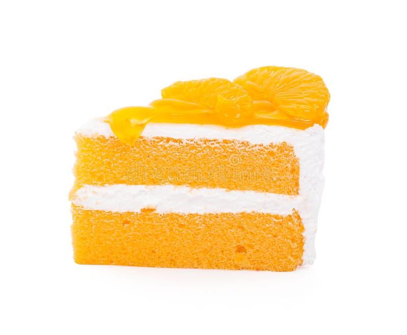 Часть оранжевого торта стоковое изображение