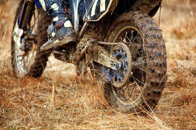 Часть пакостного колеса вездеходного мотоцикла стоковое изображение rf