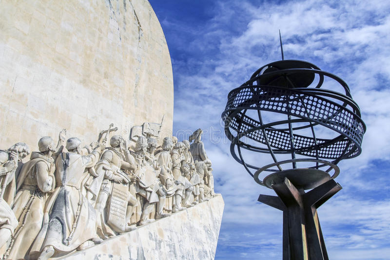 Часть памятника к открытиям, Лиссабона, Португалии стоковое фото rf