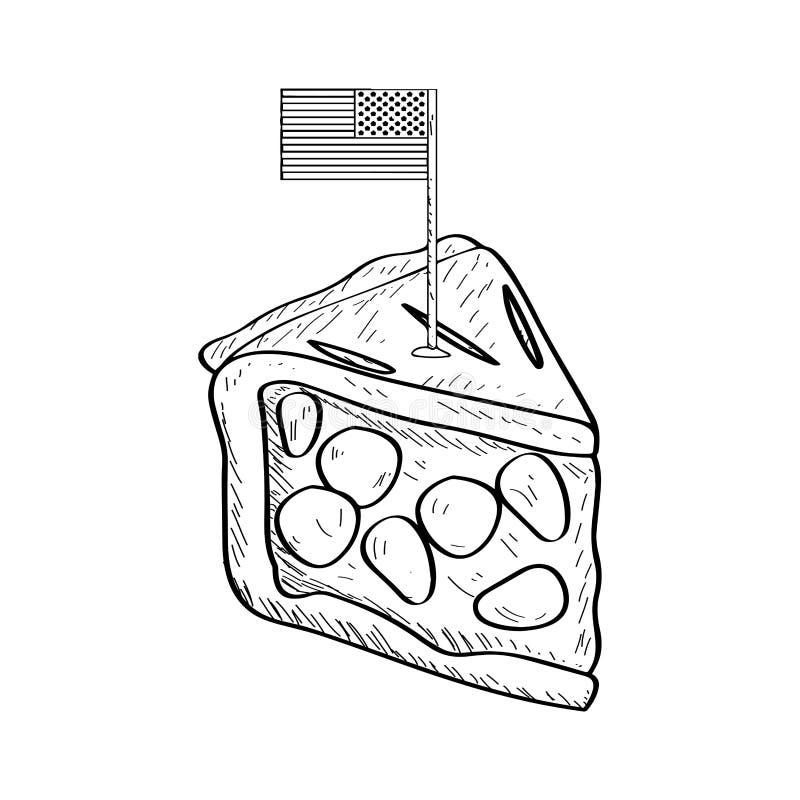 Часть пирога с флагом - плана бесплатная иллюстрация