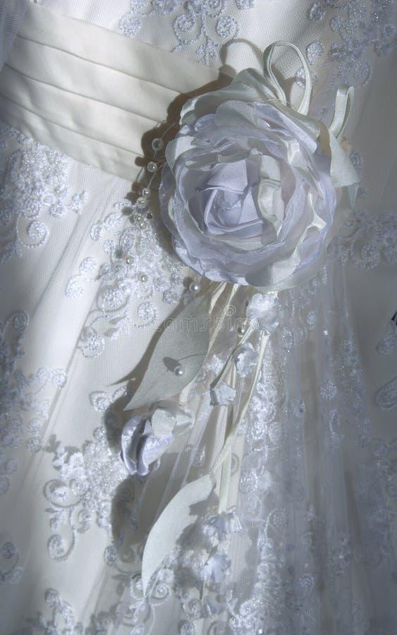 часть платья невесты стоковая фотография rf