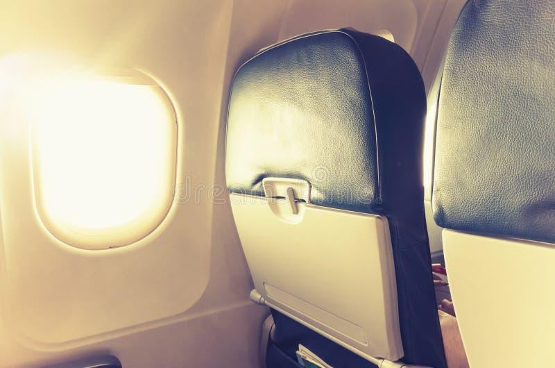 Часть реактивного самолета внутренняя, tonal коррекция стоковая фотография