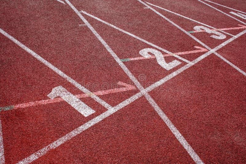 Часть следа атлетики стоковые изображения rf