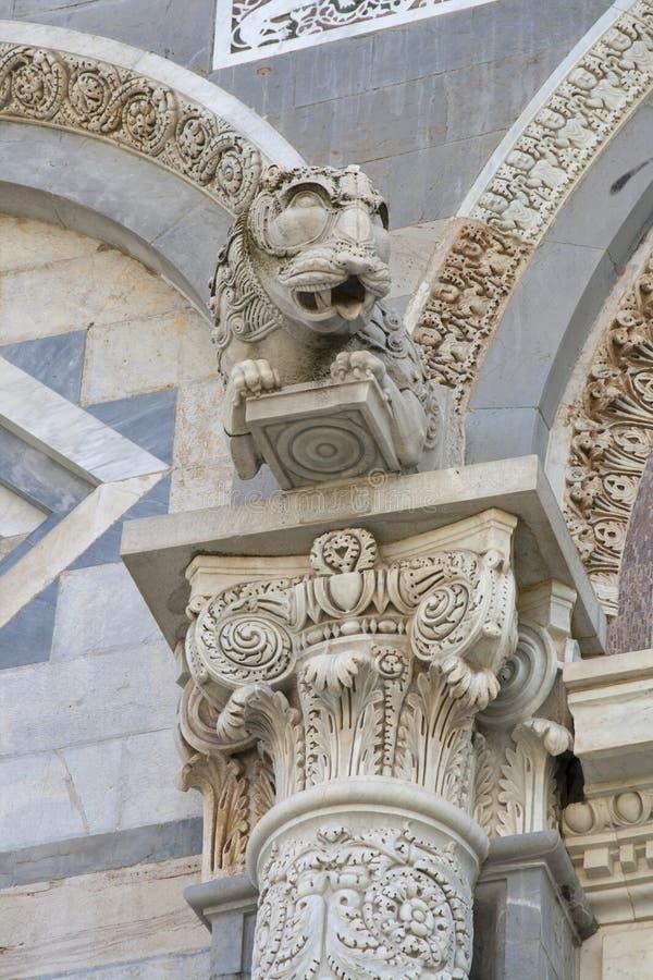 Часть собора Duomo Пизы стоковая фотография rf