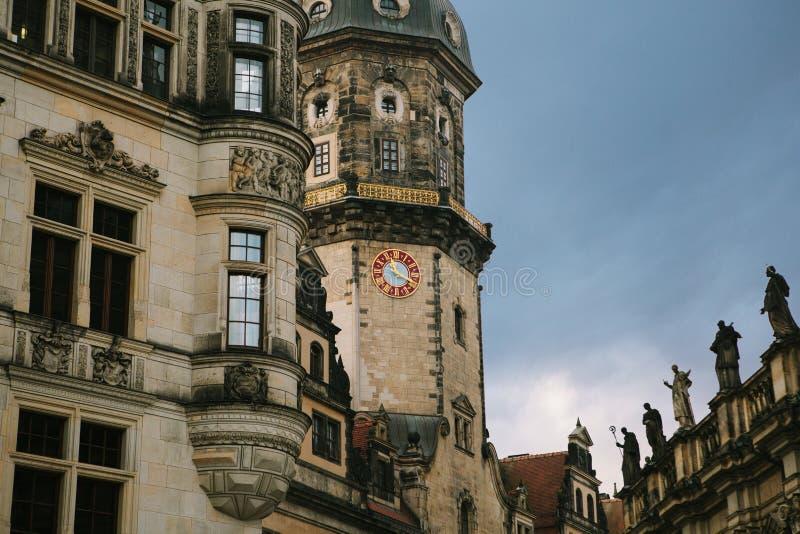 Часть старого архитектурного комплекса вызвала королевский дворец в Дрездене в Германии стоковое фото