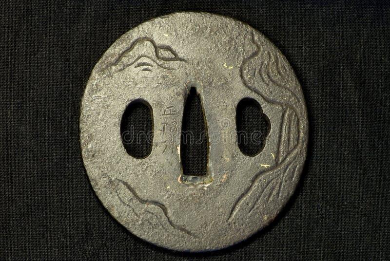 Часть старой шпаги самураев стоковые изображения