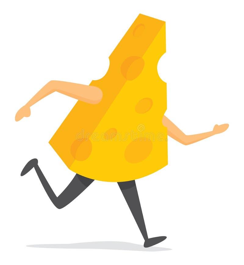 Часть сыра бежать быстро стоковое изображение