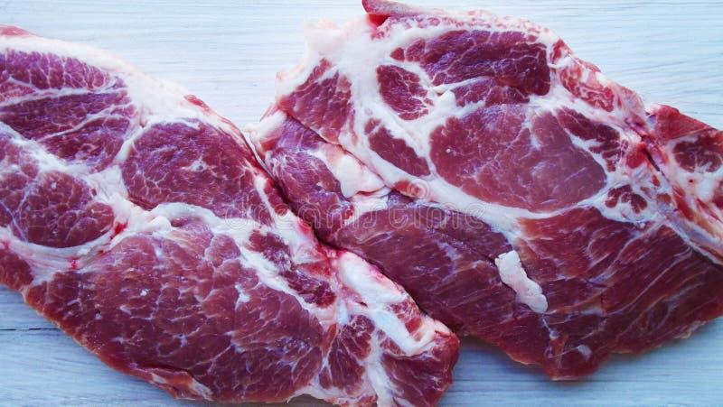 Часть сырого мяса стоковая фотография
