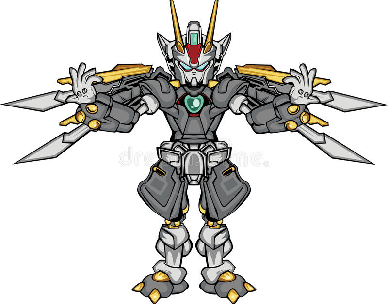 Часть тела robo g иллюстрация вектора