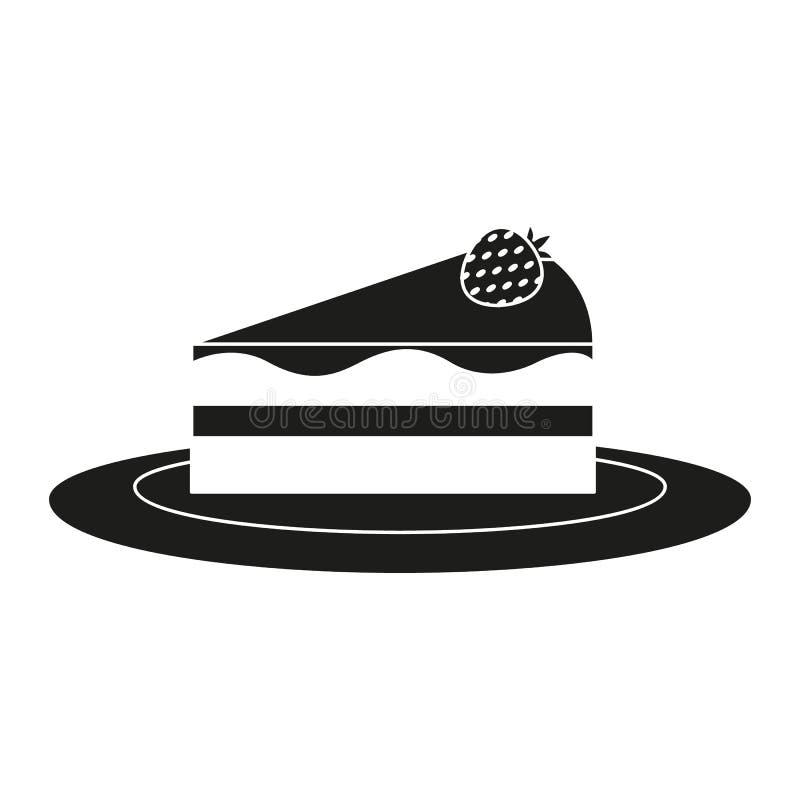 Часть торта panna значка чизкейка бесплатная иллюстрация