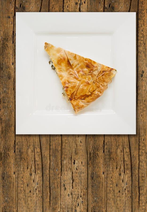 Часть турецкого пирога, burek стоковая фотография