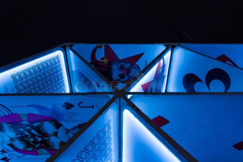 Часть установки «карточного домика» искусства на Potsdamer Platz стоковая фотография